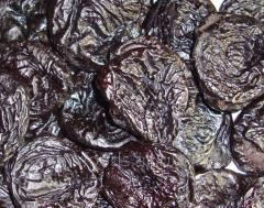 Prunes caliber, dried without stones, 40/50
