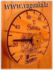The thermometer for a steam room