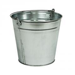 The bucket is galvanized