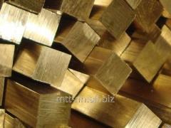 Квадрат бронзовый 30 по ГОСТу 6511-60, марка БрОЦ4-3