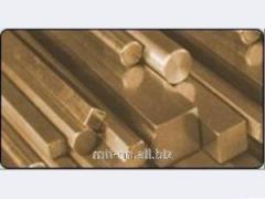 Квадрат бронзовый 38 по ГОСТу 1628-78, марка БрКМц3-1