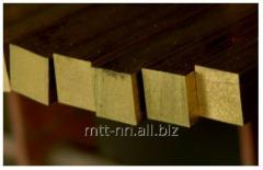Квадрат бронзовый 40 по ГОСТу 15835-70, марка БрБ2