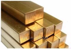 Квадрат бронзовый 5 по ГОСТу 15835-70, марка БрБ2
