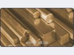Квадрат бронзовый 5,5 по ГОСТу 1628-78, марка БрАМц9-2