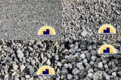 Crushed stone and sand decorative of a natural