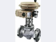 Клапан регулирующий 25нж48нжМ 300 Ру 64 кгс, нержавеющий, фланцевый, t до 220 °С