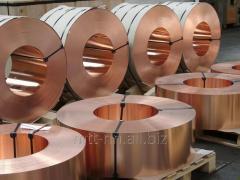 La cinta de cobre 0,1 por el GOST 1173-2006, la