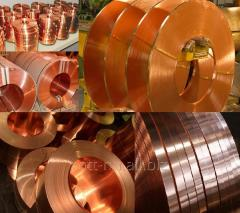 Tape copper 0.25 to GOST 1173-2006, mark Sheets