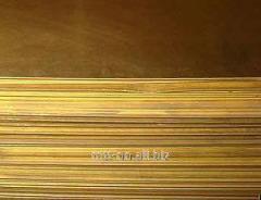 Лист латунный 1,2 по ГОСТу 2208-2007, марка Л90, 0.6х1.5, 1х2