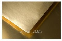 Brass sheet 3 according to GOST 2208-2007, mark l,