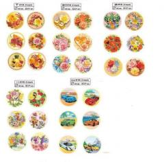 Jewelry confectionery for cakes, Wafer flowers,