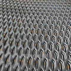 Expanded metal sheet, steel 308 3kp, 3SP, 3Ps,