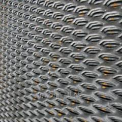 Лист просечно-вытяжной 5 508, сталь 3кп, 3сп, 3пс, ромб, чешуя, соты