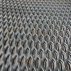 Лист просечно-вытяжной 608, сталь 3кп, 3сп, 3пс, ромб, чешуя, соты