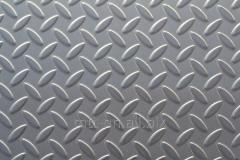 Лист рифленый 1 сталь AISI 316, 03Х17Н14М3, 08Х17Н15М3Т, по ГОСТу 8568-77, чечевица