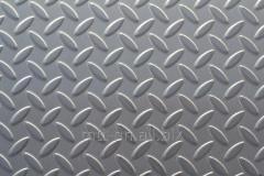 Лист рифленый 1,2 сталь AISI 316, 03Х17Н14М3, 08Х17Н15М3Т, по ГОСТу 8568-77, чечевица