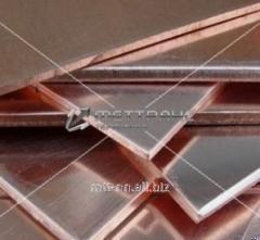 Полоса бронзовая 1,4 по ГОСТу 1595-90, марка БрАМц9-2