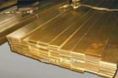 Полоса бронзовая 10 по ГОСТу 1595-90, 4748-92, марка БрАМц9-2