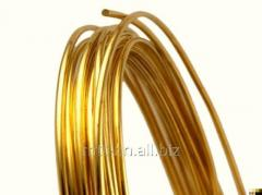 Brass wire Stael 0.14 L80, l 63, PP 59-1, GOST