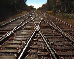 Рельсы железнодорожные Р43, ГОСТ 7173-54, лежалые