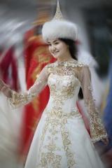 Казахские свадебные платья на кыз узату. продажа в