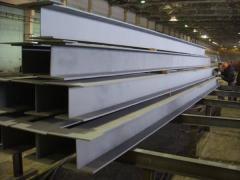 Тавр алюминиевый 100x100x24x21 ГОСТ 13622-91, марка АМг2, АМг3, АМг5, АМг6