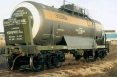 Railway tanks for nonfood products