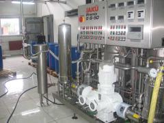 Obezzarazhivateli of water for oceanariums