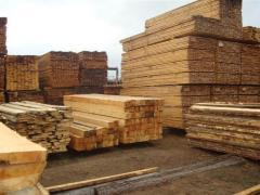 Wood round, timber