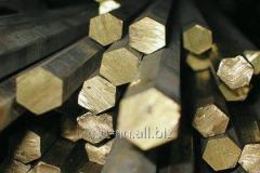 Шестигранник бронзовый 11 по ГОСТу 15835-70, марка БрБ2