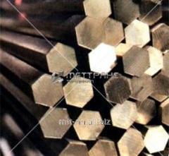 Шестигранник латунный 100 по ГОСТу 2060-2006,