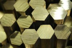 قضبان معدنية سداسية