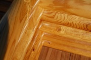 Parquet board from a pine