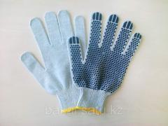 Перчатки х/б с покрытием из ПВХ
