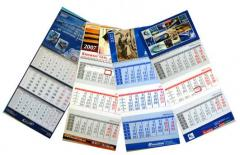 Календари в Алматы, Изготвление календарей в