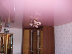 Stretch ceilings glossy