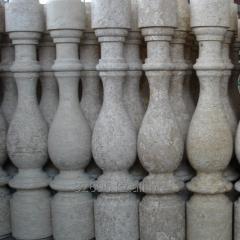 Balusters molded of natural stone