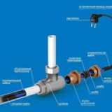 Внутренний обогрев труб длина 10 метров 160 ватт, готовый комплект UHC-16.10