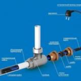 Внутренний обогрев труб длина 2 метра 32 ватта, внутренний обогрев UHC-16.2