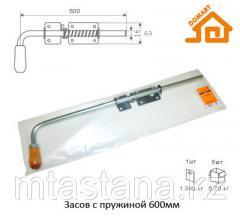 Засов для ворот с пружиной 600 мм, хром