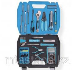 Tool kit in a case. 39 objects