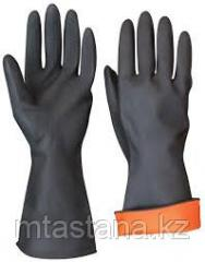 Dielectric rubber gloves (color: black)