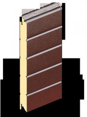 Сэндвич панели для ворот Ral 8014 (шоколад) 500 мм