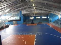 Напольное резиновое покрытие для спортивного зала