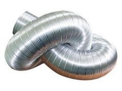 Flexible air ducts uninsulated