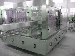 Lines of pouring of carbonated drinks in bottle PET, the equipment for pouring of drinks