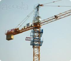 Tower cranes of a series of the HARDWARE and QTZ