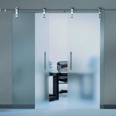 All-glass sliding system