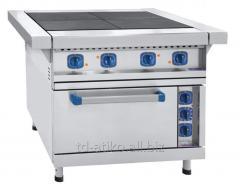 Плита четырехконфорочная с жарочным шкафом ЭП-4ЖШ-01 с духовкой из нержавеющей стали