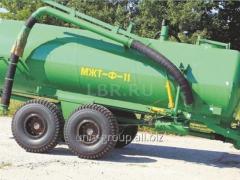 Barrel for introduction of the MZhT liquid organic